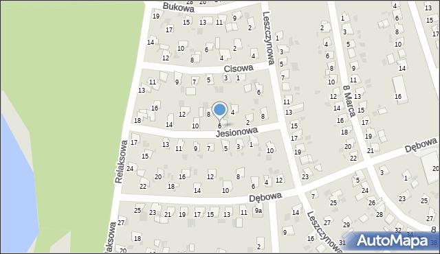 Bytom, Jesionowa, 6, mapa Bytomia