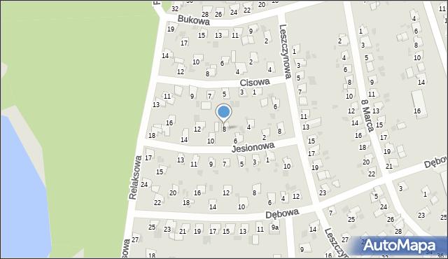 Bytom, Jesionowa, 8, mapa Bytomia