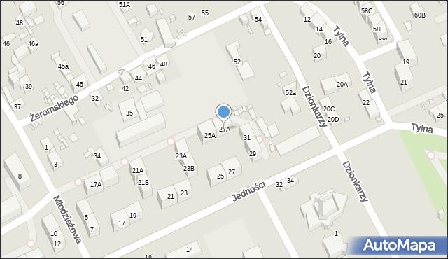 Gliwice, Jedności, 27A, mapa Gliwic