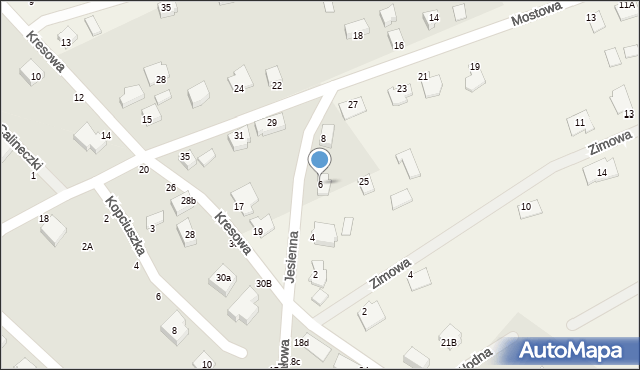 Grębocin, Jesienna, 6, mapa Grębocin