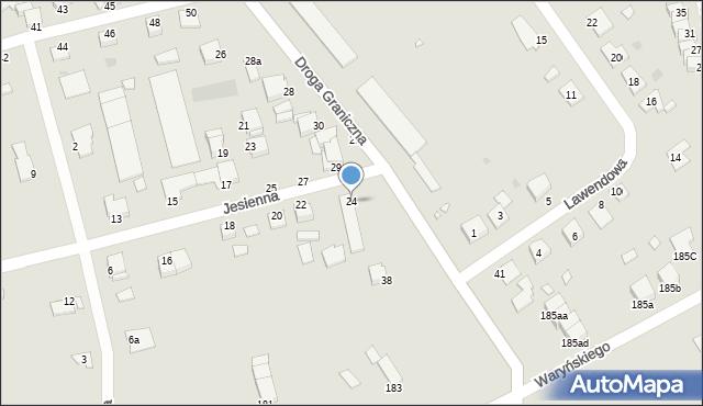 Grudziądz, Jesienna, 24, mapa Grudziądza