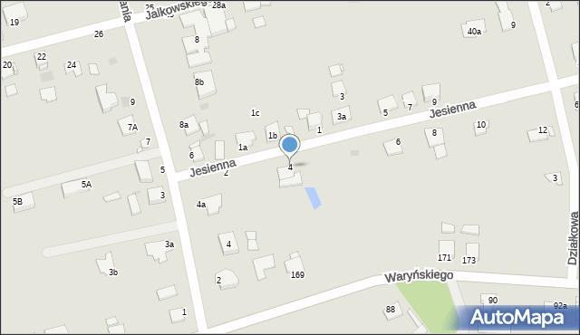 Grudziądz, Jesienna, 4, mapa Grudziądza