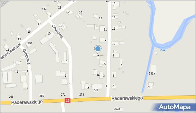 Grudziądz, Jesionowa, 7, mapa Grudziądza