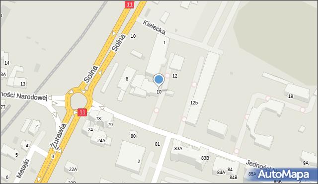 Kołobrzeg, Jedności Narodowej, 10, mapa Kołobrzegu