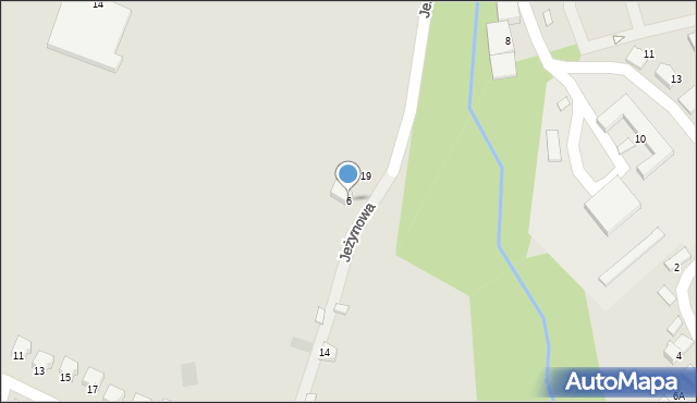 Limanowa, Jeżynowa, 6, mapa Limanowa