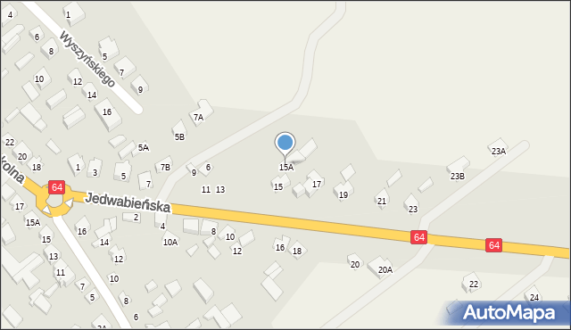 Piątnica Poduchowna, Jedwabieńska, 15A, mapa Piątnica Poduchowna