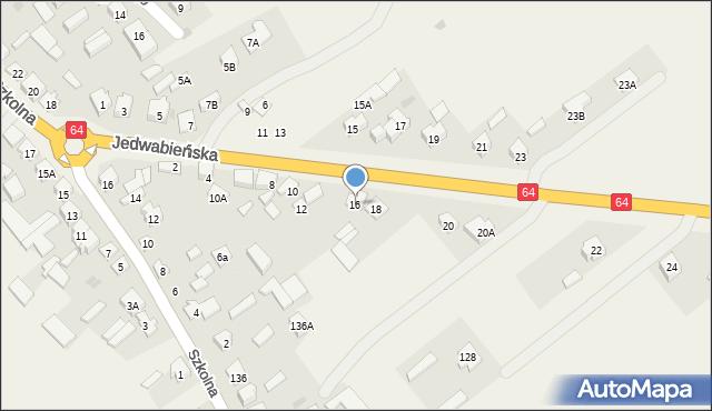 Piątnica Poduchowna, Jedwabieńska, 16, mapa Piątnica Poduchowna