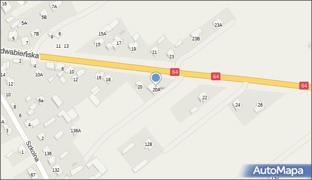 Piątnica Poduchowna, Jedwabieńska, 20A, mapa Piątnica Poduchowna