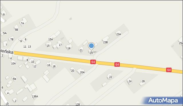 Piątnica Poduchowna, Jedwabieńska, 23, mapa Piątnica Poduchowna