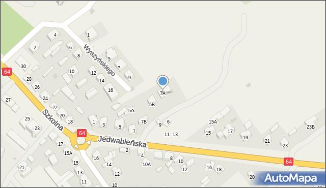 Piątnica Poduchowna, Jedwabieńska, 7A, mapa Piątnica Poduchowna