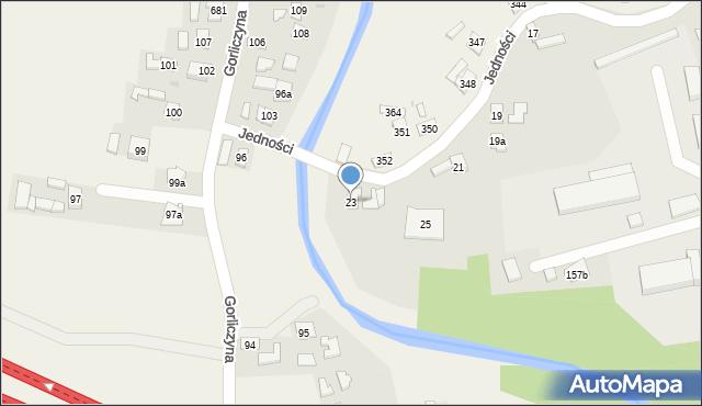 Przeworsk, Jedności, 23, mapa Przeworsk