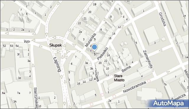 Słupsk, Jedności Narodowej, 5, mapa Słupska