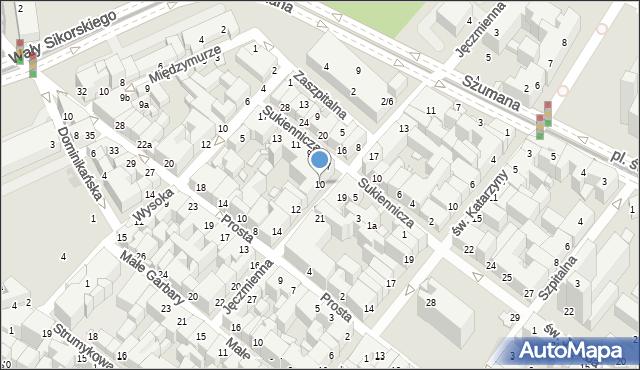 Toruń, Jęczmienna, 10, mapa Torunia