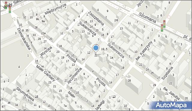 Toruń, Jęczmienna, 21, mapa Torunia