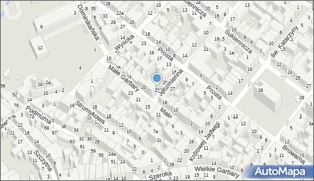 Toruń, Jęczmienna, 22, mapa Torunia