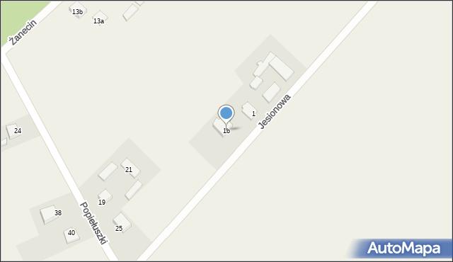 Żanecin, Jesionowa, 1b, mapa Żanecin