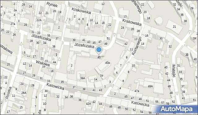 Bytom, Józefczaka Antoniego, 40, mapa Bytomia