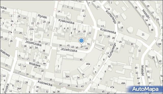 Bytom, Józefczaka Antoniego, 47, mapa Bytomia