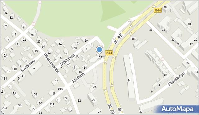 Chełm, Jordana Henryka, 10A, mapa Chełma