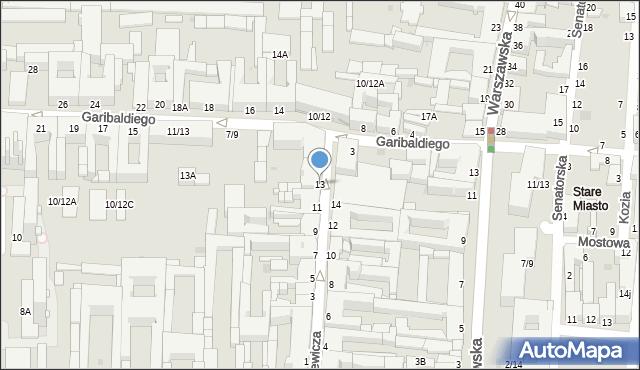 Częstochowa, Joselewicza, 13, mapa Częstochowy
