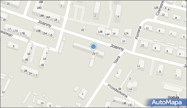 Ruda Śląska, Joanny, 13, mapa Rudy Śląskiej