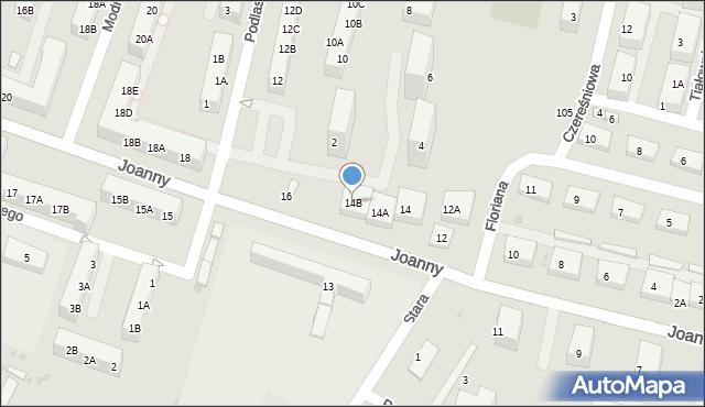 Ruda Śląska, Joanny, 14B, mapa Rudy Śląskiej