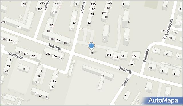Ruda Śląska, Joanny, 16, mapa Rudy Śląskiej