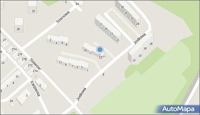 Świętochłowice, Jodłowa, 13, mapa Świętochłowice