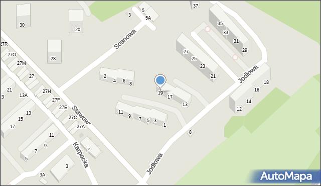Świętochłowice, Jodłowa, 19, mapa Świętochłowice