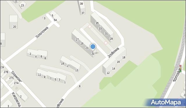 Świętochłowice, Jodłowa, 21, mapa Świętochłowice