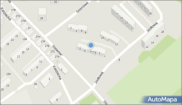 Świętochłowice, Jodłowa, 7, mapa Świętochłowice