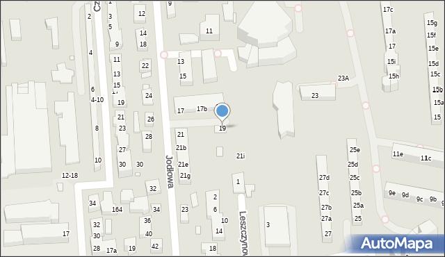 Toruń, Jodłowa, 19, mapa Torunia