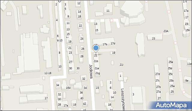 Toruń, Jodłowa, 21, mapa Torunia