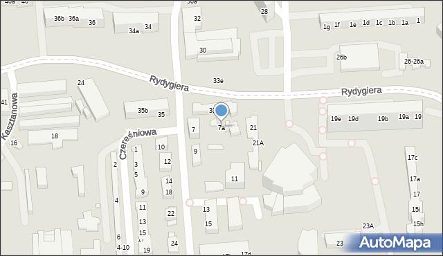 Toruń, Jodłowa, 7a, mapa Torunia