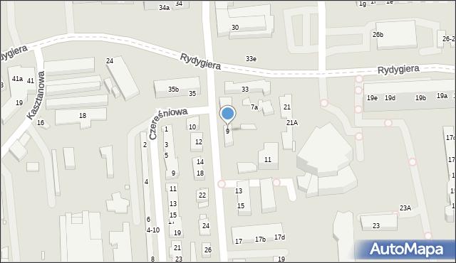 Toruń, Jodłowa, 9, mapa Torunia