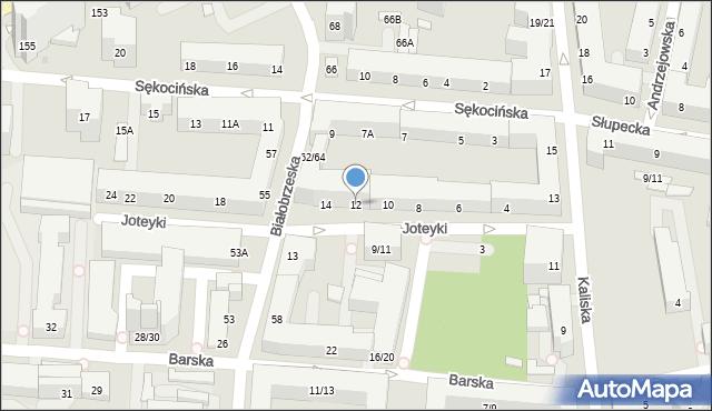 Warszawa, Joteyki Tadeusza, 12, mapa Warszawy