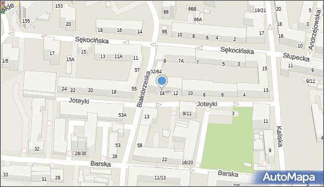 Warszawa, Joteyki Tadeusza, 14, mapa Warszawy