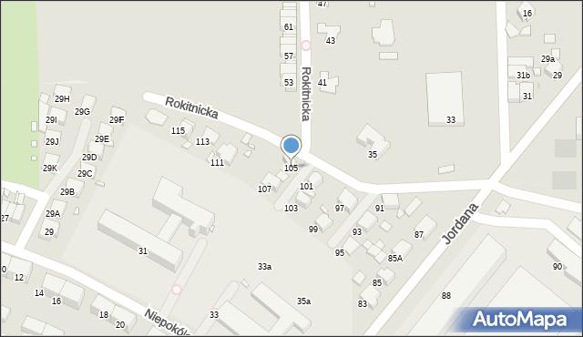 Zabrze, Jordana Henryka, dr., 105, mapa Zabrza