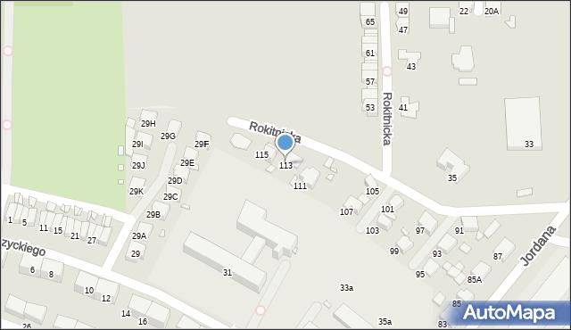 Zabrze, Jordana Henryka, dr., 113, mapa Zabrza