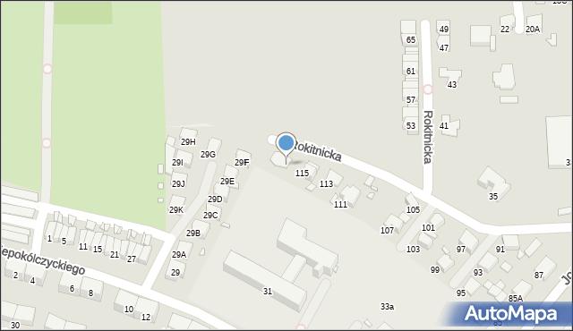 Zabrze, Jordana Henryka, dr., 117, mapa Zabrza