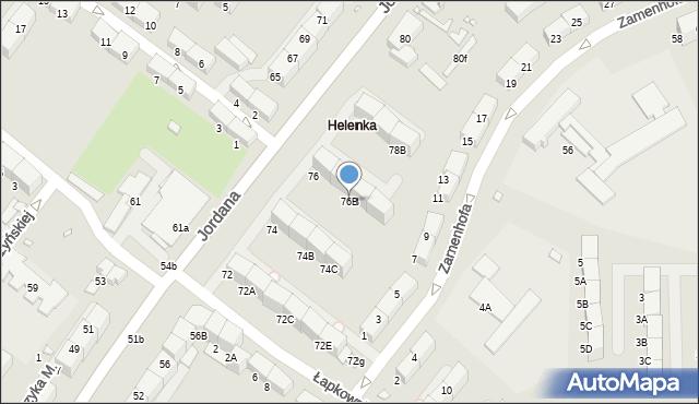 Zabrze, Jordana Henryka, dr., 76B, mapa Zabrza