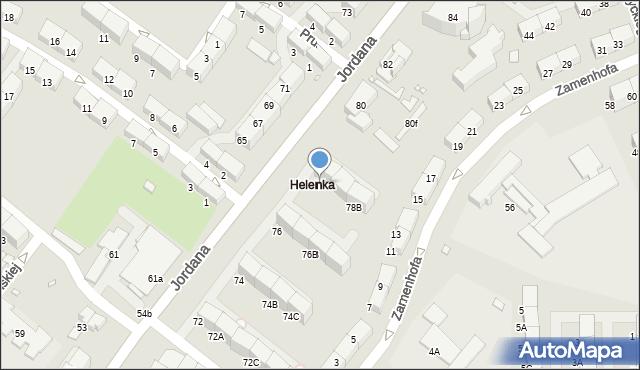 Zabrze, Jordana Henryka, dr., 78, mapa Zabrza