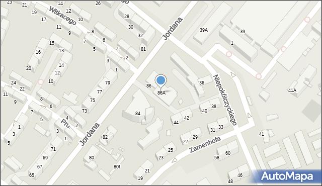 Zabrze, Jordana Henryka, dr., 86A, mapa Zabrza