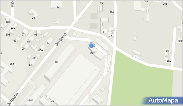 Zabrze, Jordana Henryka, dr., 90, mapa Zabrza