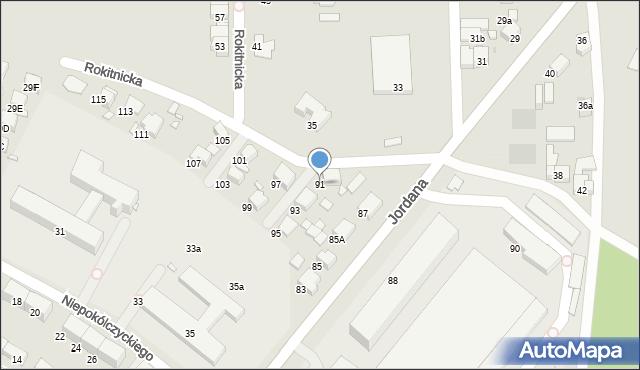 Zabrze, Jordana Henryka, dr., 91, mapa Zabrza