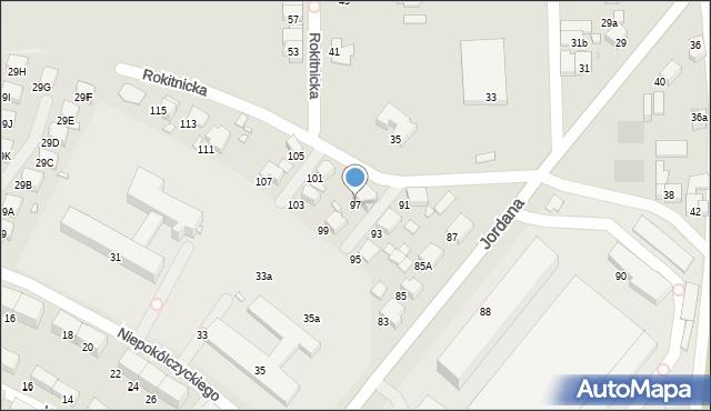 Zabrze, Jordana Henryka, dr., 97, mapa Zabrza