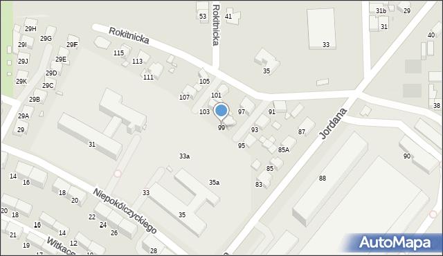Zabrze, Jordana Henryka, dr., 99, mapa Zabrza