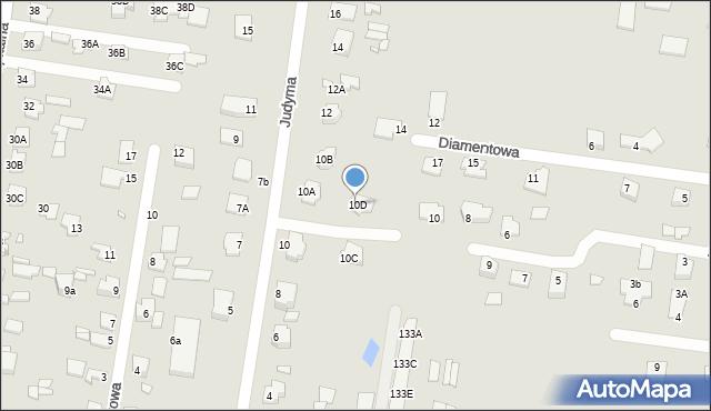 Chełm, Judyma, dr., 10D, mapa Chełma