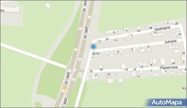 Częstochowa, Jutowa, 15, mapa Częstochowy