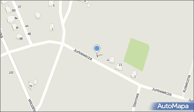 Gdynia, Jurkiewicza Kazimierza, kpt., 9, mapa Gdyni